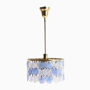 Lámpara de araña italiana de vidrio, años 50