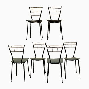 Vintage Italian Club Chairs, Set of 6