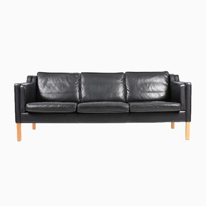 Danish Leather 3-Seater Sofa from Stouby, 1980s