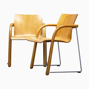 Armchairs by Ulrich Bohme, Wulf Schneider for Thonet, 1984, Set of 2
