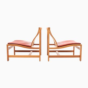 Mid-Century Lounge Chairs by Rud Thygesen & Johnny Sørensen for Magnus Olesen, 1980s, Set of 2