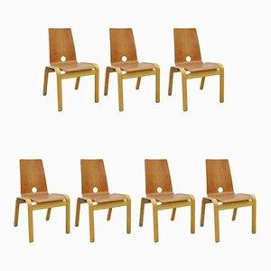 Chaises de Salle à Manger, 1970s, Set de 7