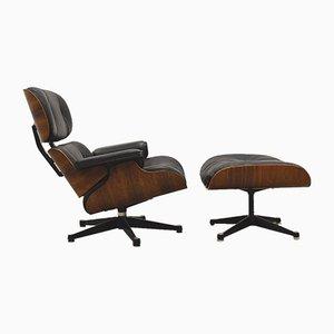 Vintage Sessel & Fußhocker von Charles & Ray Eames für Vitra