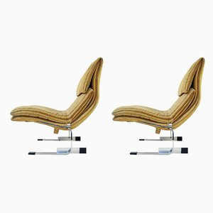 Vintage Onda Lounge Chairs by Giovanni Offredi for Saporiti, Set of 2