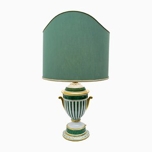 Italian Gold-Plated Table Lamp from Le Porcellane, 1990s