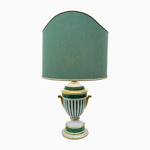 Lámpara de mesa italiana dorada de Le Porcellane, años 90