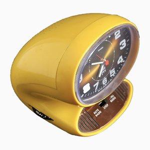 Reloj despertador vintage amarillo de Japy, años 70