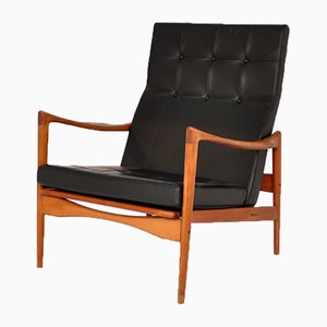 Swedish Teak and Rosewood Armchair by Ib Kofod Larsen for OPE, 1960s