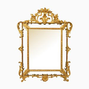 Antique Gold Leaf Framed Mirror