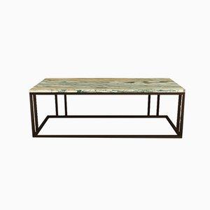 Tavolino da caffè Elio in marmo e finitura in ottone di Casa Botelho