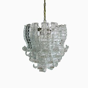 Italian Felci Murano Glass Chandelier by Barovier e Toso, 1972