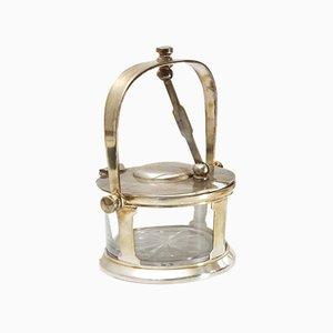 Parmesanbehälter aus Silber von Fratelli Claderoni, 1930er