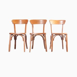 Bentwood Bistro Chairs, 1950s, Set of 3