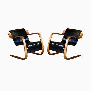 Finnische Modell 31 Armlehnstühle aus Birke & Schichtholz von Alvar Aalto für Finmar, 1930er, 2er Set