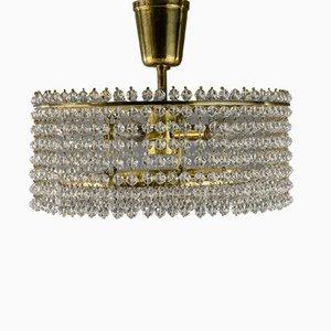 Lámpara de araña austriaca de cristal de J. & L. Lobmeyr para Lobmeyr, años 60