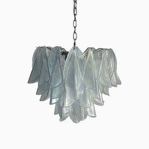 Lámpara de araña italiana de cristal de Murano de Mazzega, 1972