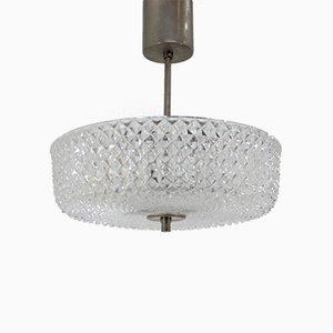 Lámpara colgante de Kamenický Šenov, años 70