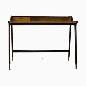 Italienischer Schreibtisch aus Mahagoni, 1960er