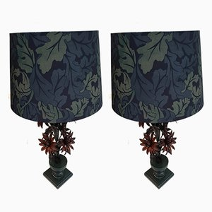 Metal Table Lamps, 1920s, Set of 2