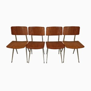 Mid-Century Result Dining Chairs by Friso Kramer for Ahrend De Cirkel, Set of 4