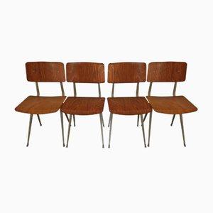 Mid-Century Result Esszimmerstühle von Friso Kramer für Ahrend De Cirkel, 4er Set