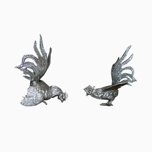 Garden Rooster Sculptures, 1970s, Set of 2