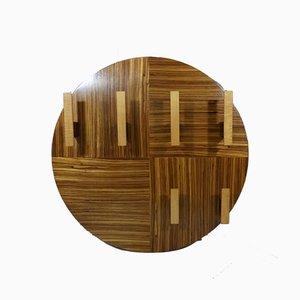 Runde Mid-Century Garderobe aus Holz