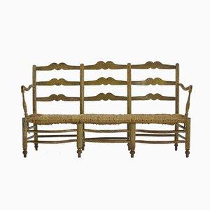 Antique French Rush Sofa