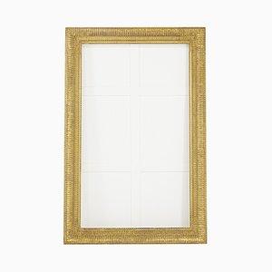 Espejo francés antiguo con marco dorado