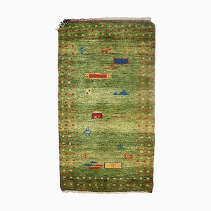 Hellgrüner orientalischer Teppich, 1970er