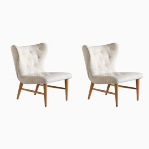 Swedish Lounge Chairs by Eric Bertil Karlén for Firma Rumsinteriör , 1940s, Set of 2