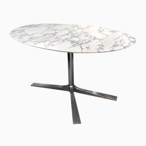 Esstisch mit Marmorplatte, 1960er
