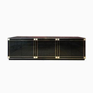 Black Lacquered Sideboard, 1980s