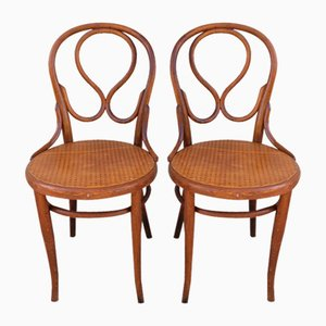 Bentwood Bistro Chairs, 1930s, Set of 2