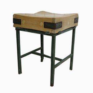 Mesa de trabajo inglesa de madera de arce, años 40