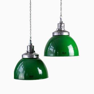 Emaillierte Deckenlampe von Revo, 1950er