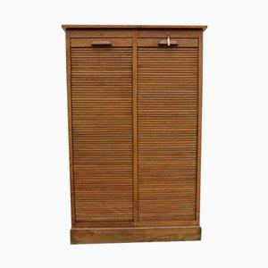 Oak Tambour Cabinet, 1940s