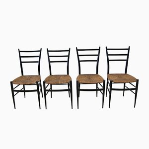 Spinetto Dining Chairs from Chiavari, 1950s, Set of 4