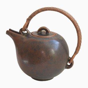Tetera danesa de cerámica de Eva Staehr Nielsen para Saxbo, años 40