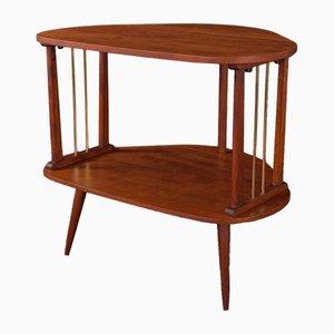 German Macore Veneer Side Table, 1950s
