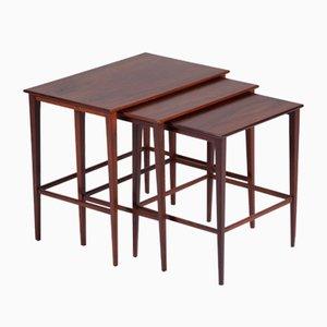 Danish Rosewood Nesting Tables, 1960s, Set of 3
