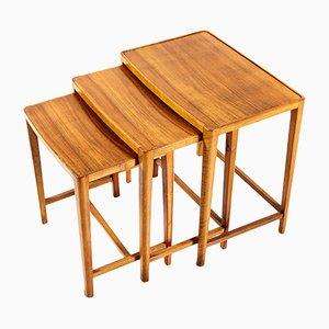 Tavolini ad incastro in teak di A. A. Patijn per Zijlstra Joure, Paesi Bassi, anni '50, set di 3