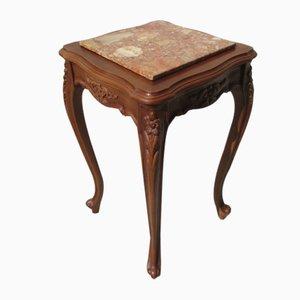 Consola de madera de cerezo y abedul, años 70
