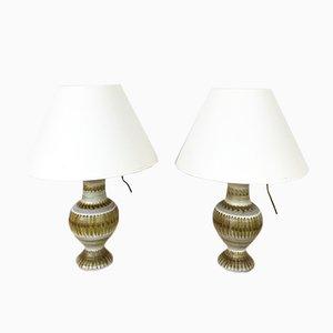 Lámpara de mesa vintage de cerámica de Guillot