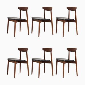 Danish Dining Chairs by Harry Østergaard for Randers Furniture Factory, 1960s, Set of 6
