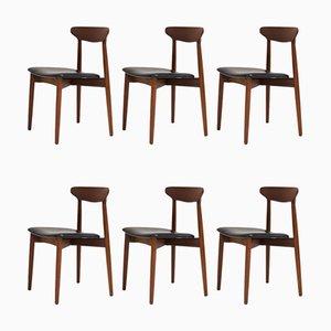 Sillas de comedor danesas de Harry Østergaard para Randers Furniture Factory, años 60. Juego de 6