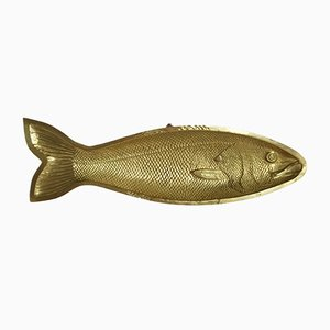 Large Mid-Century Spanish Brass Fish Bowl by Valenti