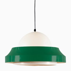 Green and White Pendant Lamp from Philips, 1960s