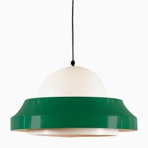 Lámpara colgante en verde y blanco de Philips, años 60