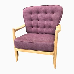Purple Jose Armchair by Guillerme & Chambron for Votre Maison, 1960s